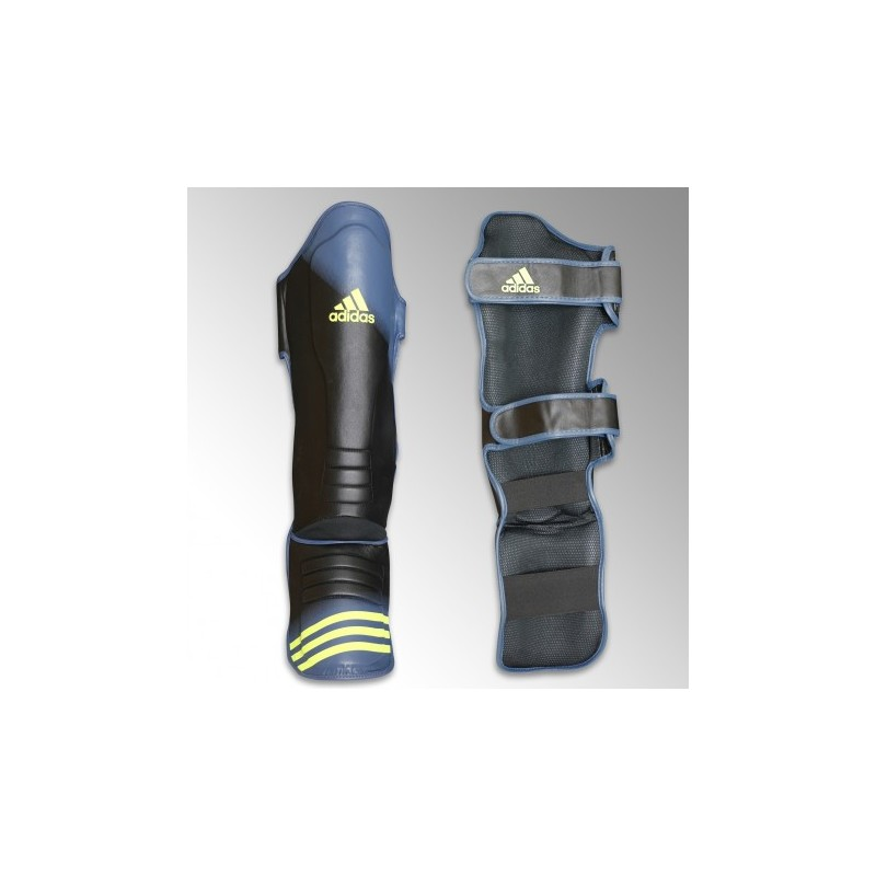protège tibia pieds adidas bleu /jaune adigssm011