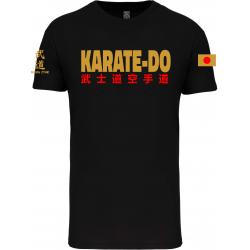 T-shirt Bio Noir ENFANT IPPON STAR KARATE OR ET ROUGE