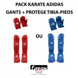 PACK KARATE GANTS PROTEGE TIBIA PIEDS ADIDAS